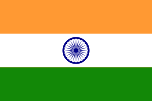 Landskod Indien